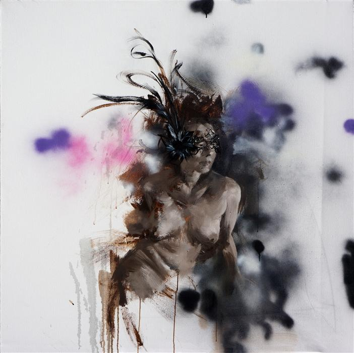 Original art for sale at UGallery.com | Privacy No. 3 by XIWEN CHEN | $4,275 | Oil painting | 48' h x 48' w | http://www.ugallery.com/oil-painting-privacy-no-3