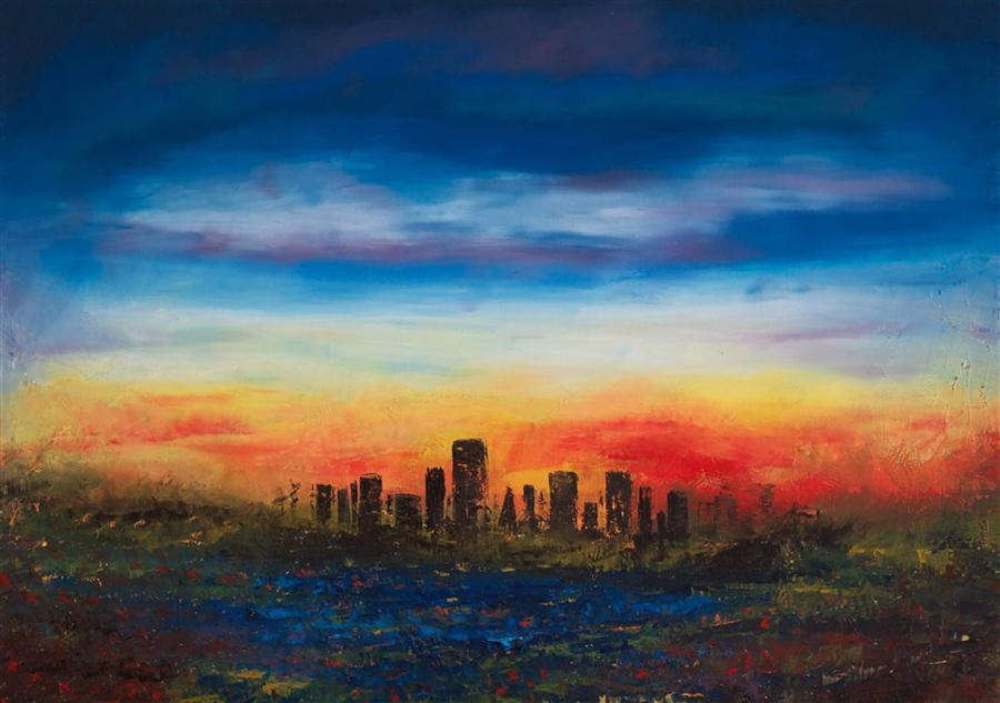 Original art for sale at UGallery.com | San Francisco Bay by CHELSEA TIKOTSKY | $2,075 | Oil painting | 36' h x 48' w | http://www.ugallery.com/oil-painting-san-francisco-bay