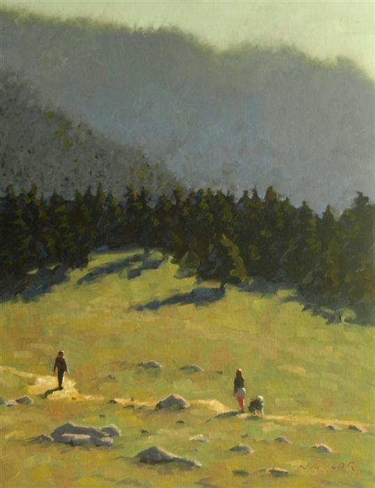 Original art for sale at UGallery.com | On the Trail by RODGERS NAYLOR | $975 | Oil painting | 18' h x 14' w | http://www.ugallery.com/oil-painting-on-the-trail