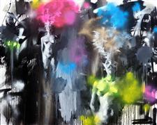 Expressionism art,Nudes art,Street Art art,Non-representational art,oil painting,Privacy No. 5