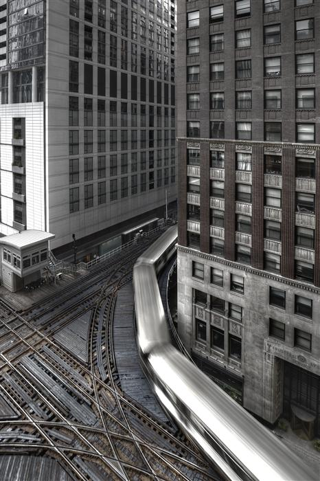 Original art for sale at UGallery.com | Traversing the Chicago Loop by MICHAEL BAKER | $220 |  | ' h x ' w | http://www.ugallery.com/photography-traversing-the-chicago-loop