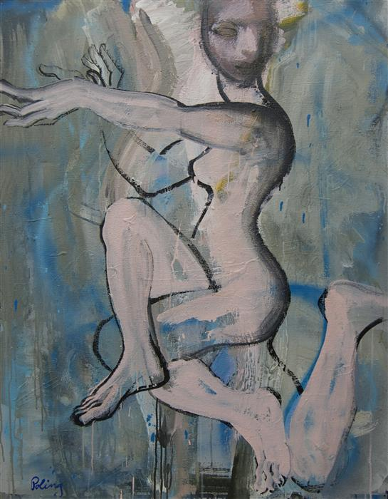 Original art for sale at UGallery.com | Dancer by STEPHEN POLING | $3,175 | Acrylic painting | 46' h x 36' w | http://www.ugallery.com/acrylic-painting-dancer-38220