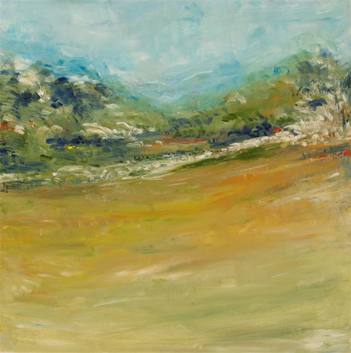 Original art for sale at UGallery.com | A Wonderful View by KAJAL ZAVERI | $1,625 | Oil painting | 30' h x 30' w | http://www.ugallery.com/oil-painting-a-wonderful-view