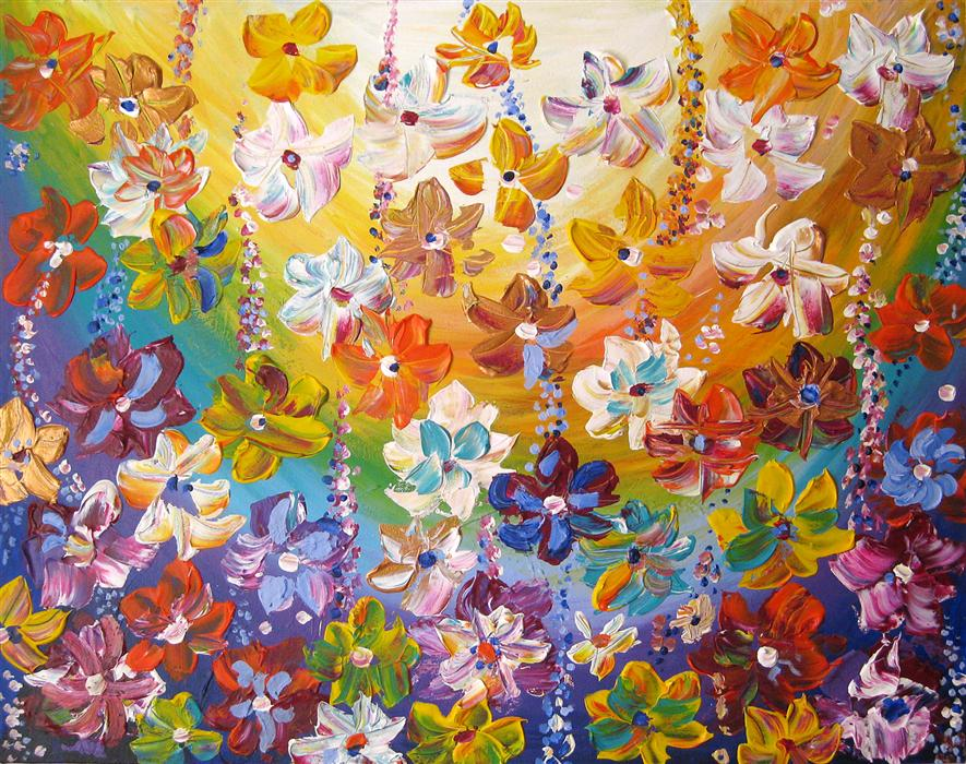 Original art for sale at UGallery.com | I Love Summer by NATASHA TAYLES | $775 | Acrylic painting | 22' h x 28' w | http://www.ugallery.com/acrylic-painting-i-love-summer