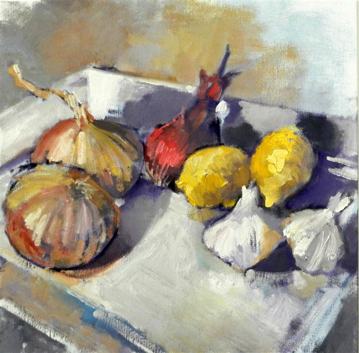 Discover Original Art by Mary Pratt | Lemon Plate oil painting | Art for Sale Online at UGallery