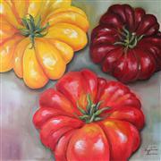 Still Life art,Cuisine art,Representational art,Vintage art,oil painting,Heirloom Tomatoes
