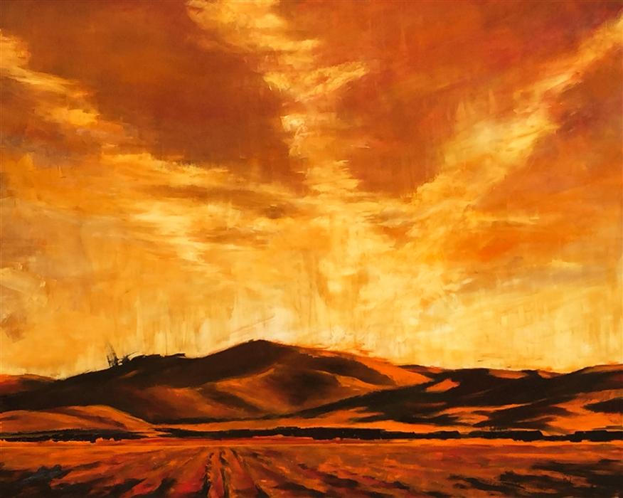 Discover Original Art by Mandy Main | Vapor Trails oil painting | Art for Sale Online at UGallery
