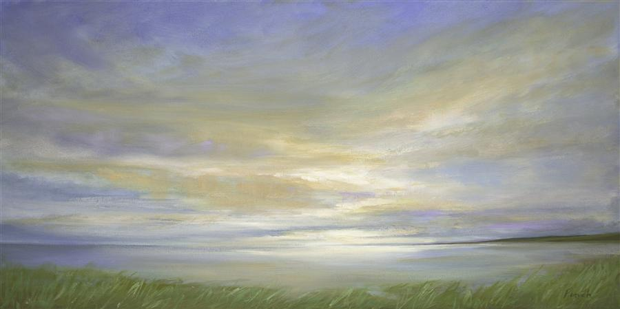 Original art for sale at UGallery.com | Pillar Point Sky by SHEILA FINCH | $2,800 | Oil painting | 18' h x 36' w | http://www.ugallery.com/oil-painting-pillar-point-sky