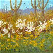Impressionism art,Nature art,Western art,Representational art,oil painting,Desert Impressions