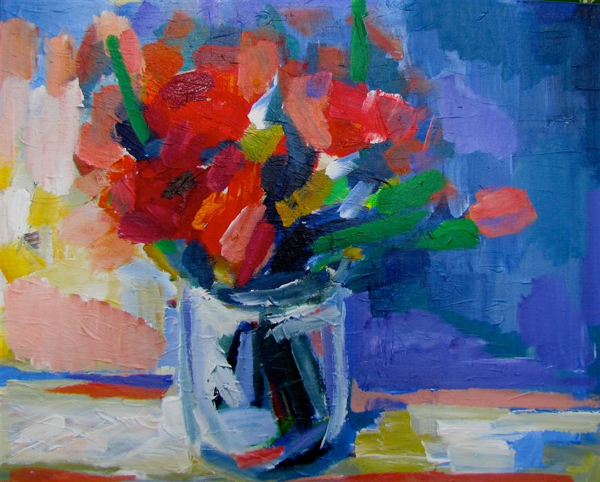 Discover Original Art by Ina Shtukar | Bouquet acrylic painting | Art for Sale Online at UGallery