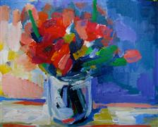 Flora art,Representational art,Vintage art,acrylic painting,Bouquet