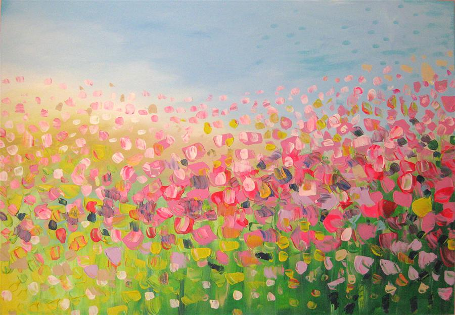 Original art for sale at UGallery.com | Sweet Touch by NATASHA TAYLES | $925 | Acrylic painting | 24' h x 36' w | http://www.ugallery.com/acrylic-painting-sweet-touch