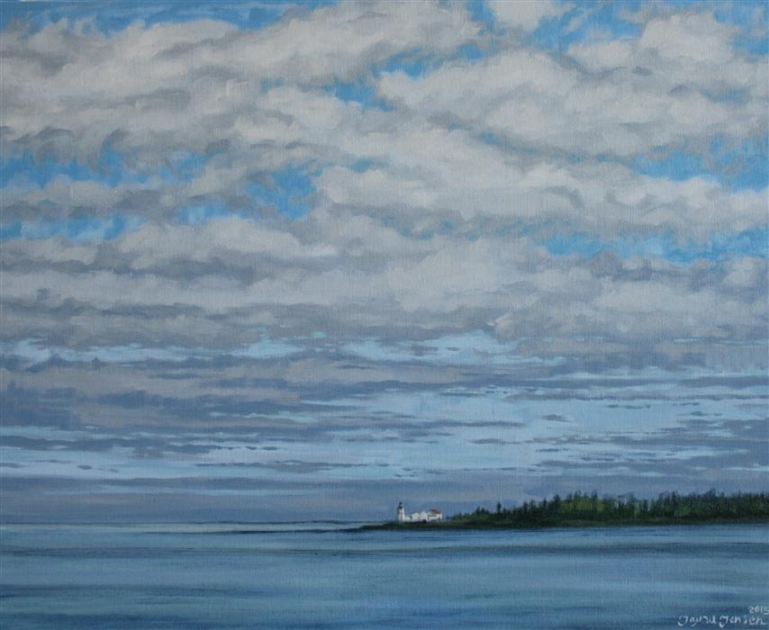 Discover Original Art by Jay Jensen | The Lighthouse on Campobello oil painting | Art for Sale Online at UGallery