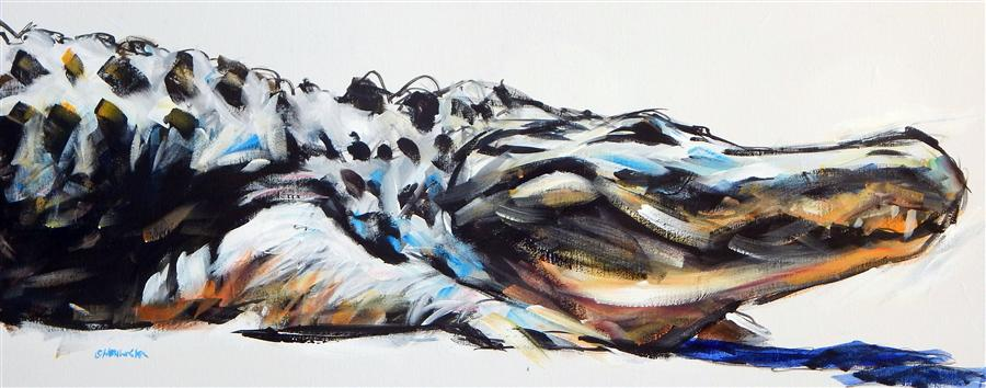Original art for sale at UGallery.com | Smile by CHRIS WAGNER | $1,350 | Acrylic painting | 16' h x 40' w | http://www.ugallery.com/acrylic-painting-smile-38446