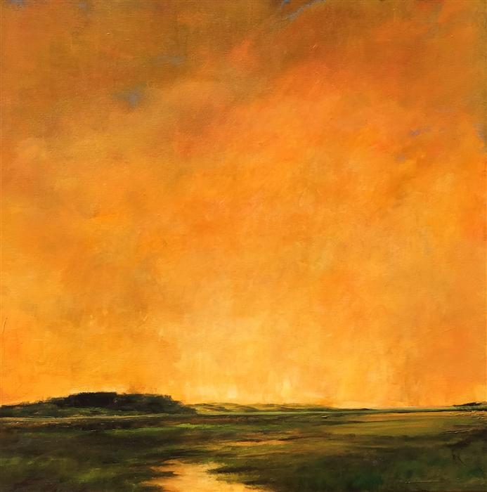 Discover Original Art by Mandy Main | Estuary IV oil painting | Art for Sale Online at UGallery