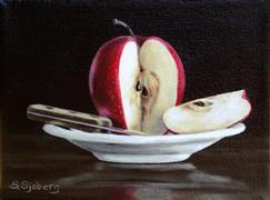 Still Life art,Cuisine art,Realism art,Representational art,acrylic painting,Apple Slice