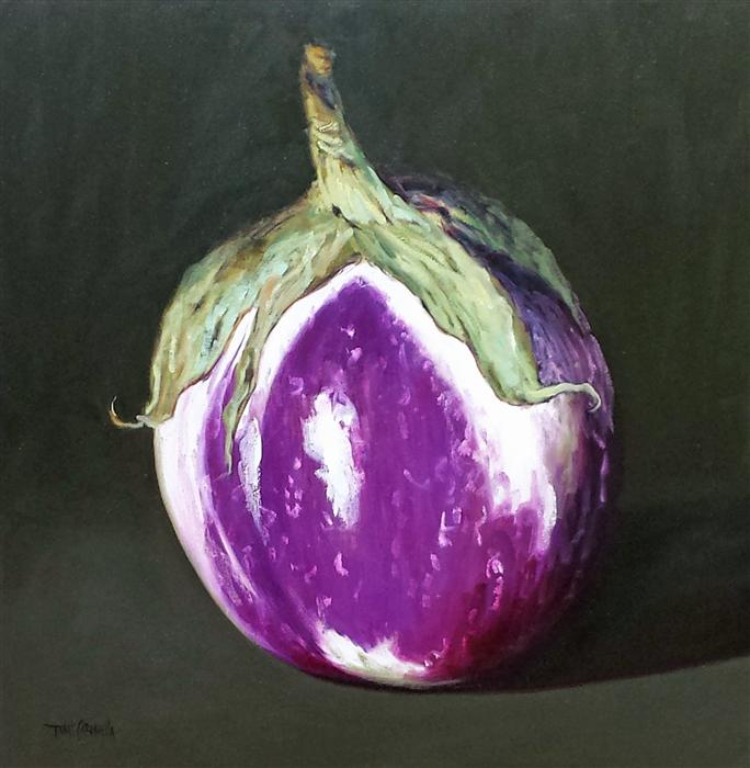 Discover Original Art by Tami Cardnella | Violet Eggplant oil painting | Art for Sale Online at UGallery
