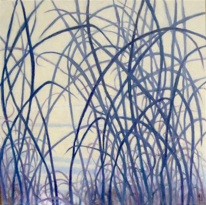 Original art for sale at UGallery.com | Winter Field II by NANCI ERSKINE | $775 | Oil painting | 18' h x 18' w | http://www.ugallery.com/oil-painting-winter-field-ii