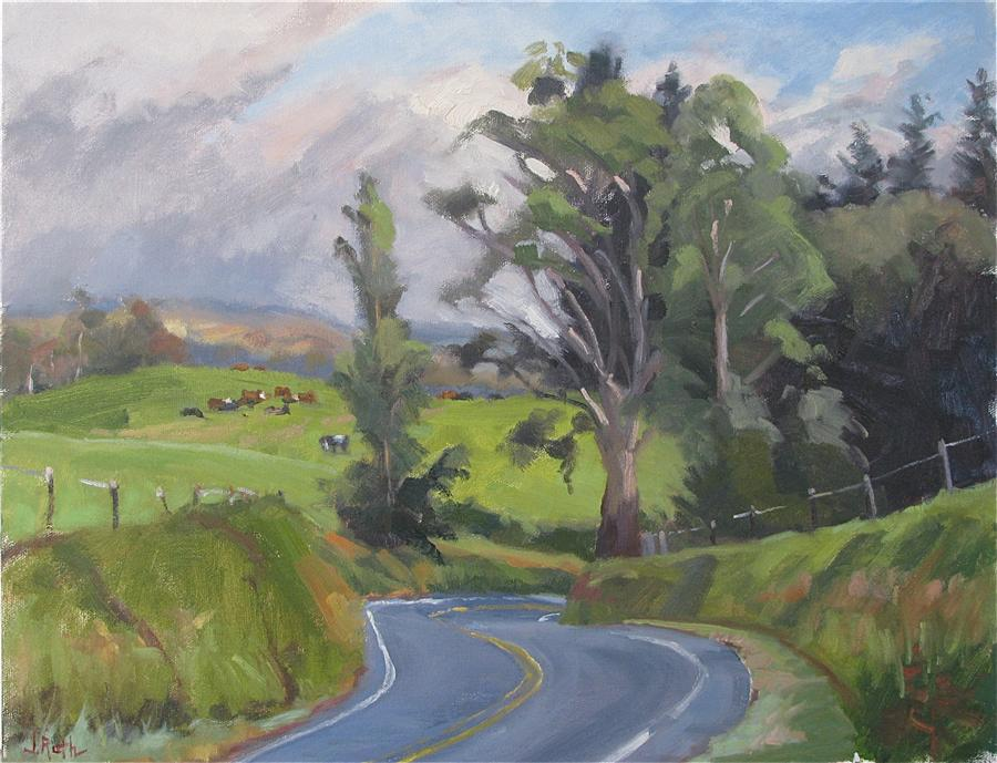 Discover Original Art by Jamie Roth | Sunday Drive oil painting | Art for Sale Online at UGallery