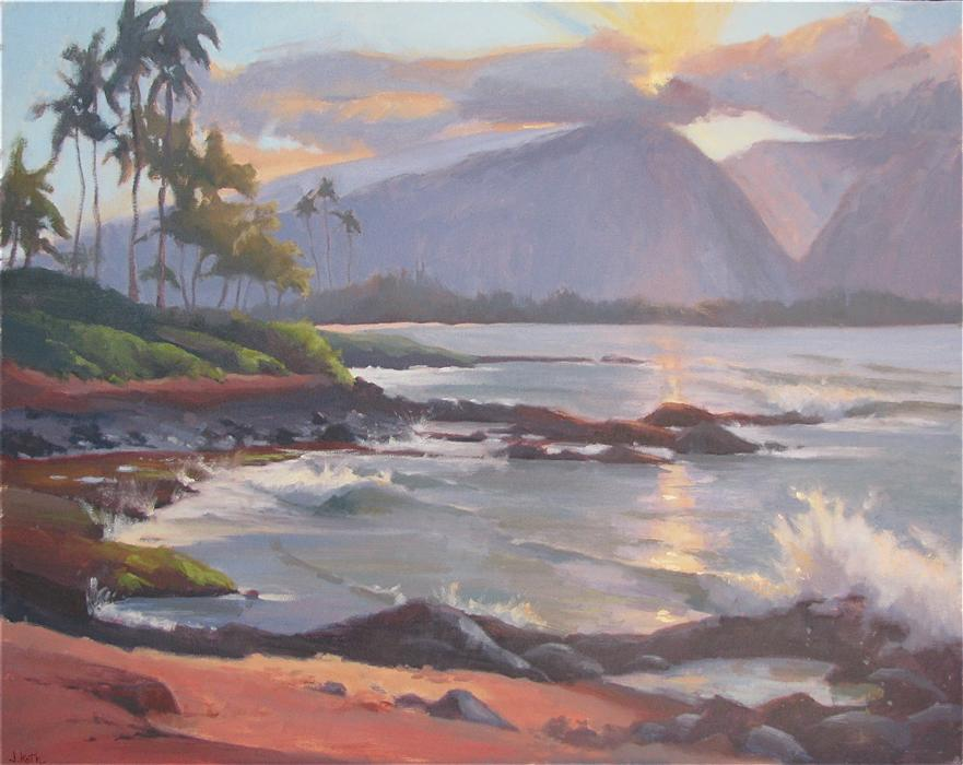 Discover Original Art by Jamie Roth | North Shore Sunset oil painting | Art for Sale Online at UGallery