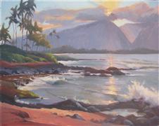 Impressionism art,Seascape art,Representational art,oil painting,North Shore Sunset