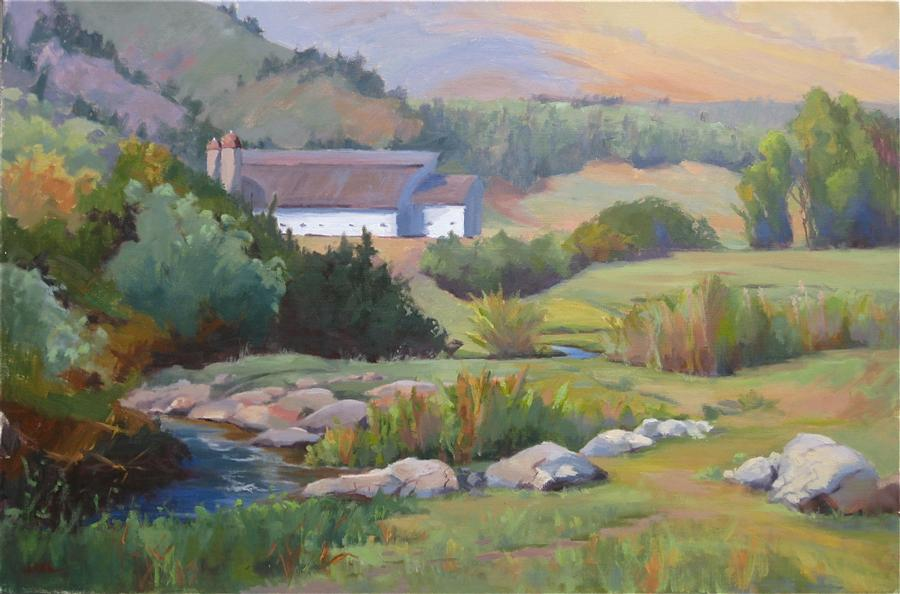 Discover Original Art by Jamie Roth | Park City Summer oil painting | Art for Sale Online at UGallery