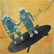 Surrealism art,Street Art art,Representational art,mixed media artwork,Surfs Down