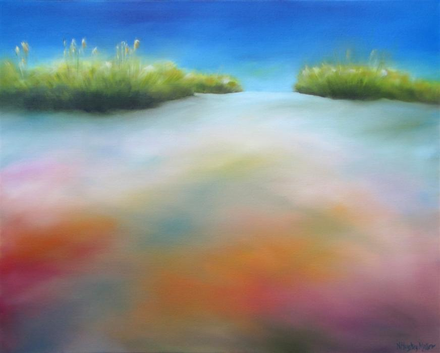 Original art for sale at UGallery.com | Dune Colors by NANCY HUGHES MILLER | $800 | Oil painting | 24' h x 30' w | http://www.ugallery.com/oil-painting-dune-colors