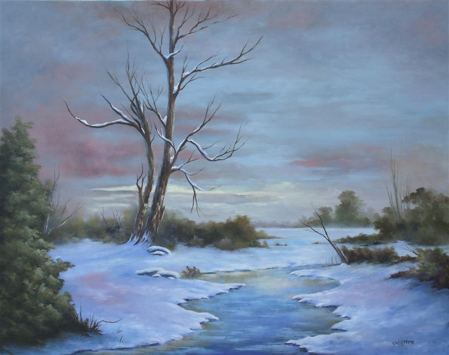Original art for sale at UGallery.com | The Whisper of Daybreak by GAIL GREENE | $875 | Oil painting | 22' h x 28' w | http://www.ugallery.com/oil-painting-the-whisper-of-daybreak