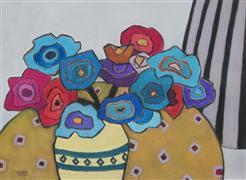 Still Life art,Flora art,Representational art,pastel artwork,Flower Bouquet