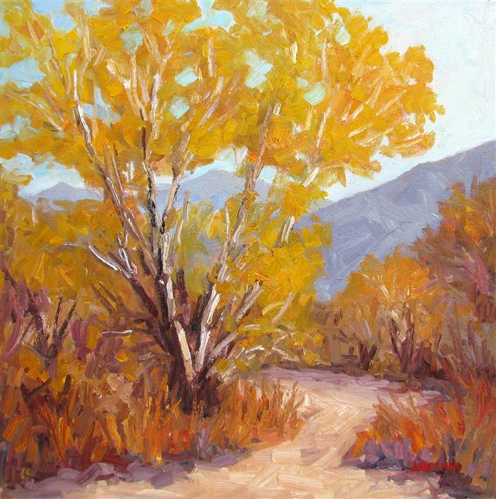 Original art for sale at UGallery.com | Cottonwood Splendor by ROGER ALDERMAN | $1,500 | Oil painting | 20' h x 20' w | http://www.ugallery.com/oil-painting-cottonwood-splendor