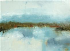 Abstract art,Landscape art,Non-representational art,oil painting,On Lake Peachtree
