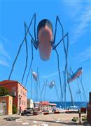 Fantasy art,Surrealism art,Representational art,digital printmaking,Tsunami