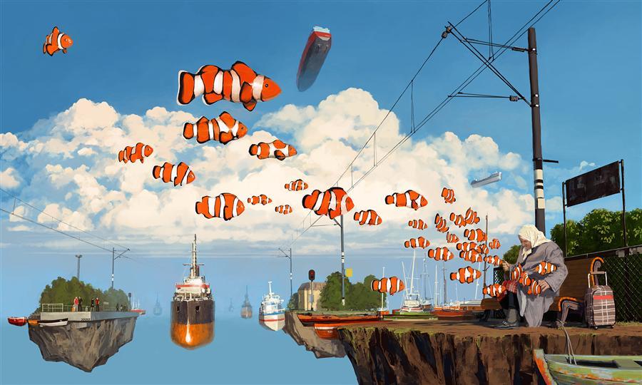 Discover Original Art by Alex Andreev | 21 km digital printmaking | Art for Sale Online at UGallery