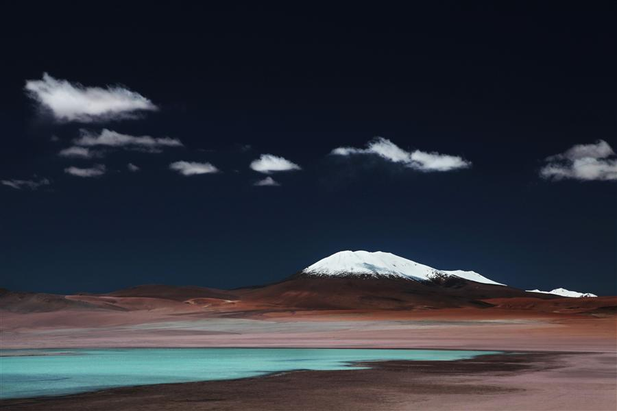 Original art for sale at UGallery.com | Laguna Verde by MARIA PLOTNIKOVA | $125 |  | ' h x ' w | http://www.ugallery.com/photography-laguna-verde