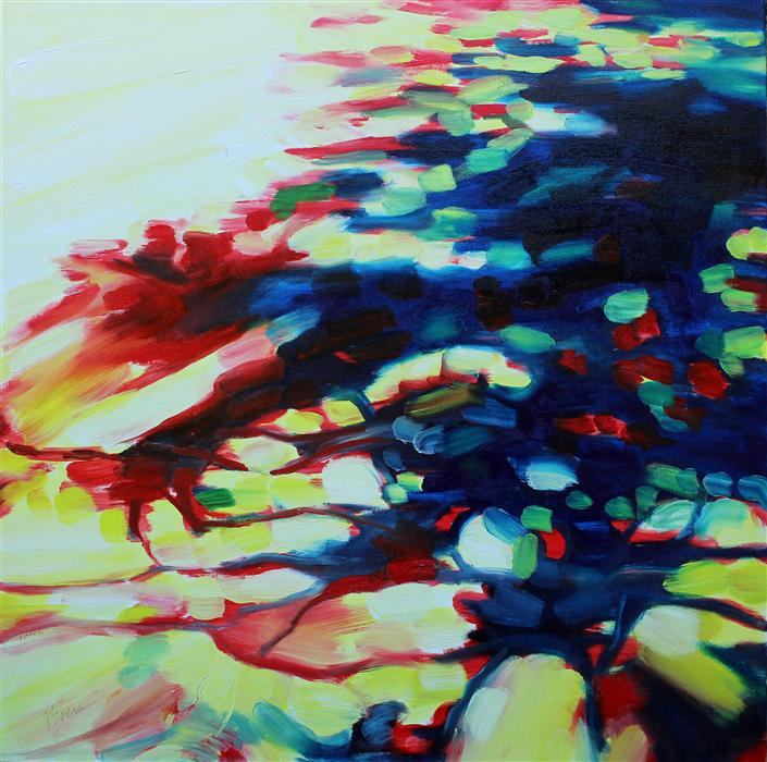 Original art for sale at UGallery.com | Shadow Gems by JOANNE EVERS | $1,800 | Oil painting | 36' h x 36' w | http://www.ugallery.com/oil-painting-shadow-gems