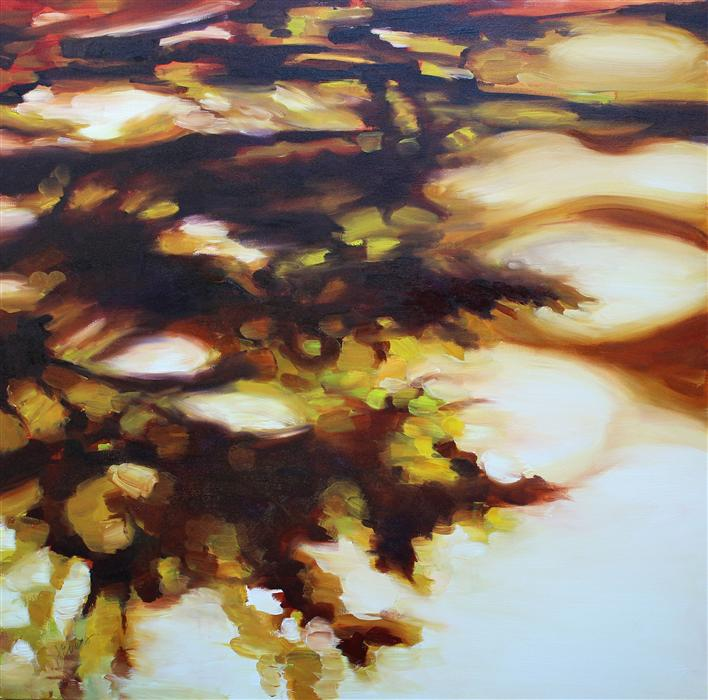 Original art for sale at UGallery.com | Aubade by JOANNE EVERS | $1,500 | Oil painting | 36' h x 36' w | http://www.ugallery.com/oil-painting-aubade