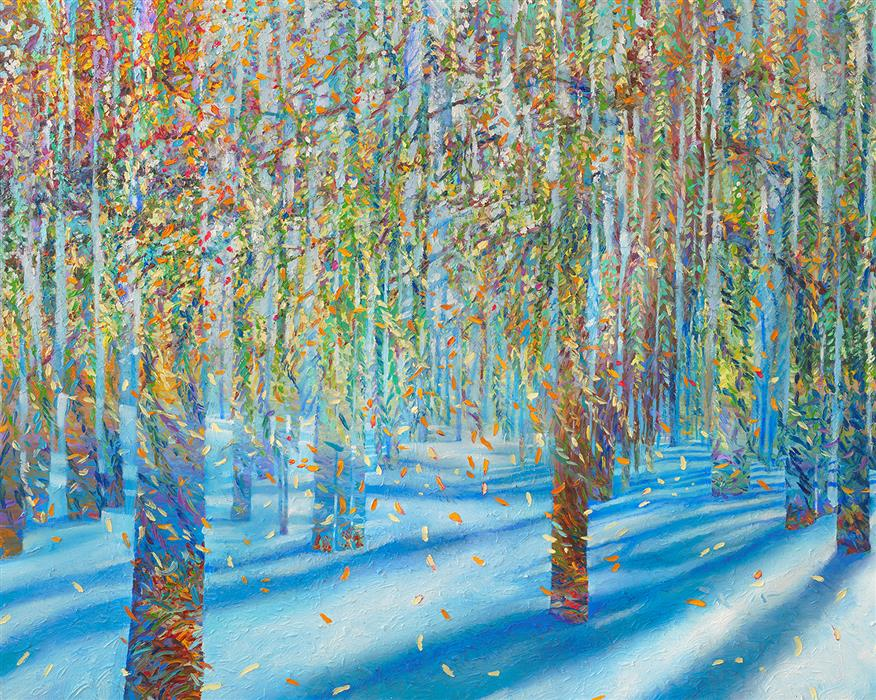 Original art for sale at UGallery.com | Snowfall by IRIS SCOTT | $15,000 | Oil painting | 48' h x 60' w | http://www.ugallery.com/oil-painting-snowfall