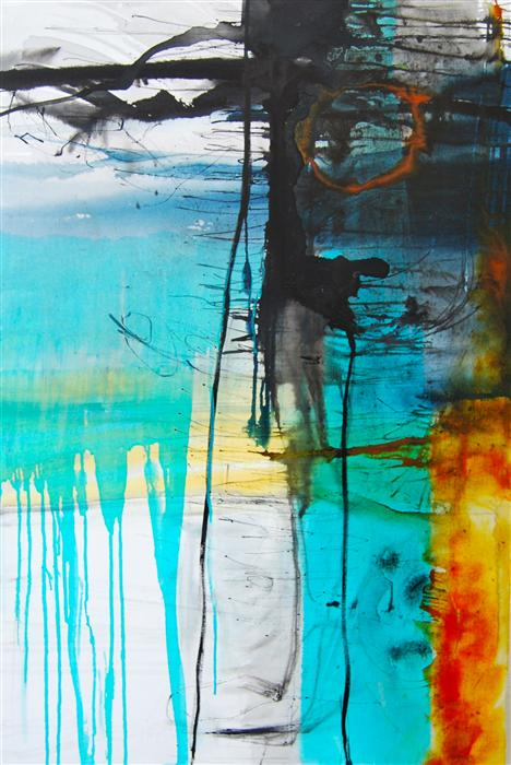 Original art for sale at UGallery.com | Waking with the Dawn by KARA BARKVED | $1,050 | Acrylic painting | 36' h x 24' w | http://www.ugallery.com/acrylic-painting-waking-with-the-dawn