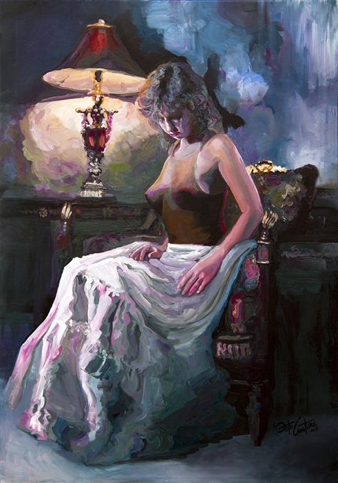 Discover Original Art by Seth Couture | Captured by Lamplight acrylic painting | Art for Sale Online at UGallery