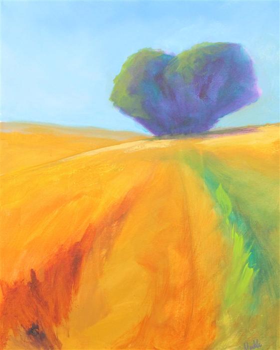 Original art for sale at UGallery.com | Prairie Tree 1 by NANCY MERKLE | $1,350 | Acrylic painting | 30' h x 24' w | http://www.ugallery.com/acrylic-painting-prairie-tree-1
