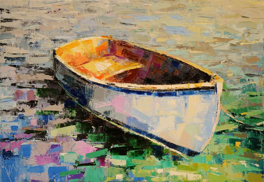 Discover Original Art by Kim McAninch | Boat 27 oil painting | Art for Sale Online at UGallery