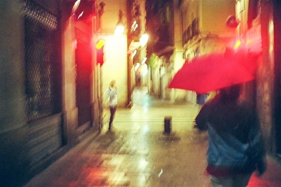 Original art for sale at UGallery.com | Barcelona in Red by KONSTANTIN CHALABOV | $145 |  | ' h x ' w | http://www.ugallery.com/photography-barcelona-in-red