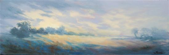 Expressionism art,Impressionism art,Landscape art,Representational art,oil painting,Seductive Nights 7