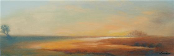 Impressionism art,Landscape art,Representational art,oil painting,Seductive Nights 2