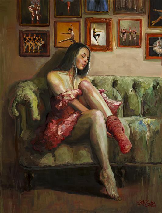 Original art for sale at UGallery.com | Portrait of Svetlana by SETH COUTURE | $3,175 | Acrylic painting | 48' h x 36' w | http://www.ugallery.com/acrylic-painting-portrait-of-svetlana