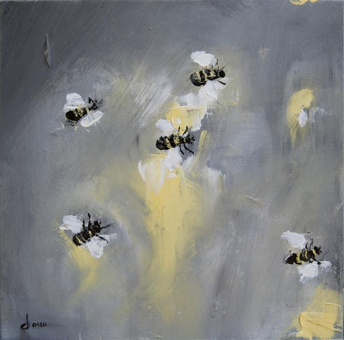 Discover Original Art by Anne Dosso-Powell | Bees in the Wind oil painting | Art for Sale Online at UGallery