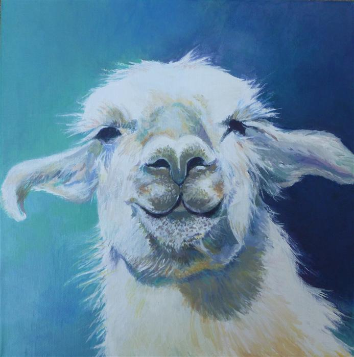 Discover Original Art by Catherine McCargar | Llama acrylic painting | Art for Sale Online at UGallery