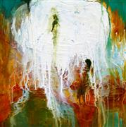 Abstract art,Expressionism art,Non-representational art,acrylic painting,Fountain of Gratitude