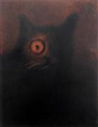 Animals art,Surrealism art,Representational art,charcoal drawing,One Eyed Tom